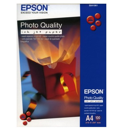 Epson Photo Quality Inkjet Paper - A4 100 arkkia